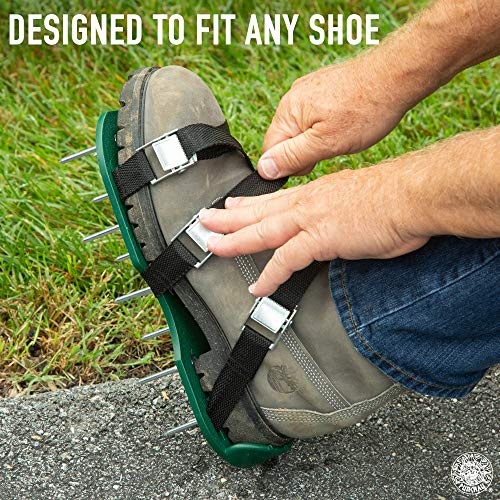 Punchau Lawn Aerator Shoes w/Metal Buckles and 3 Straps - Heavy Duty Spiked Sandals for Aerating Your Lawn or Yard by Punchau (Image #3)