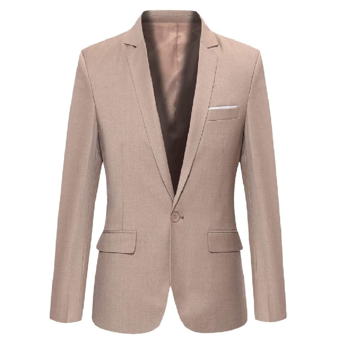 Sayah Mens Big Pockets Plus Size Buttoned Notch Lapel Suit Blazer