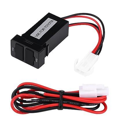 Cargador de Coche USB Keeno, 12 V-24 V, 2,1 A, Impermeable, Puerto USB Doble, Cargador portátil para Coche, Adaptador de Corriente para Toyota ...