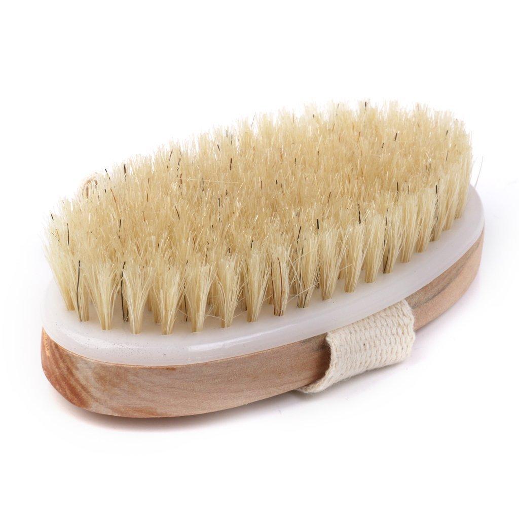 Mdeper Cepillo de Baño Cepillo Ducha, Cerdas Naturales para Eliminar la Piel Muerta , Toxinas y Exfoliante, Cepillos para El Cuerpo del Baño Circulación Sanguínea.