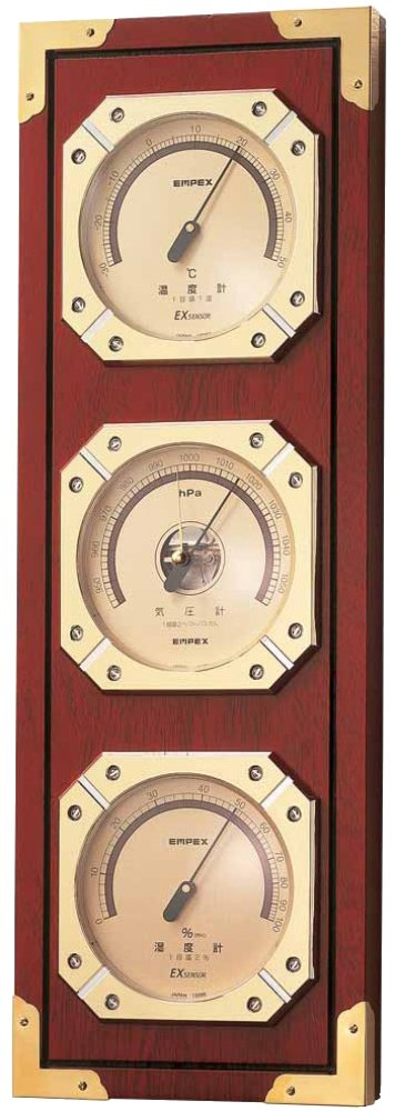 エンペックス気象計 温度湿度計 ウェザーマスター気象計 壁掛け用 日本製 ブラウン BM-751 B0039HBUNW