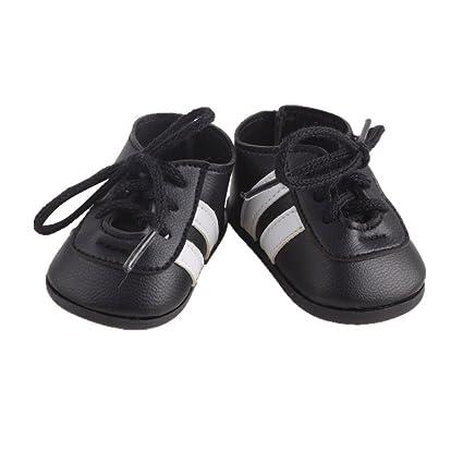 Generic Dolls Schuhe, Schuhe Schwarz Paar Schwarze Schuhe