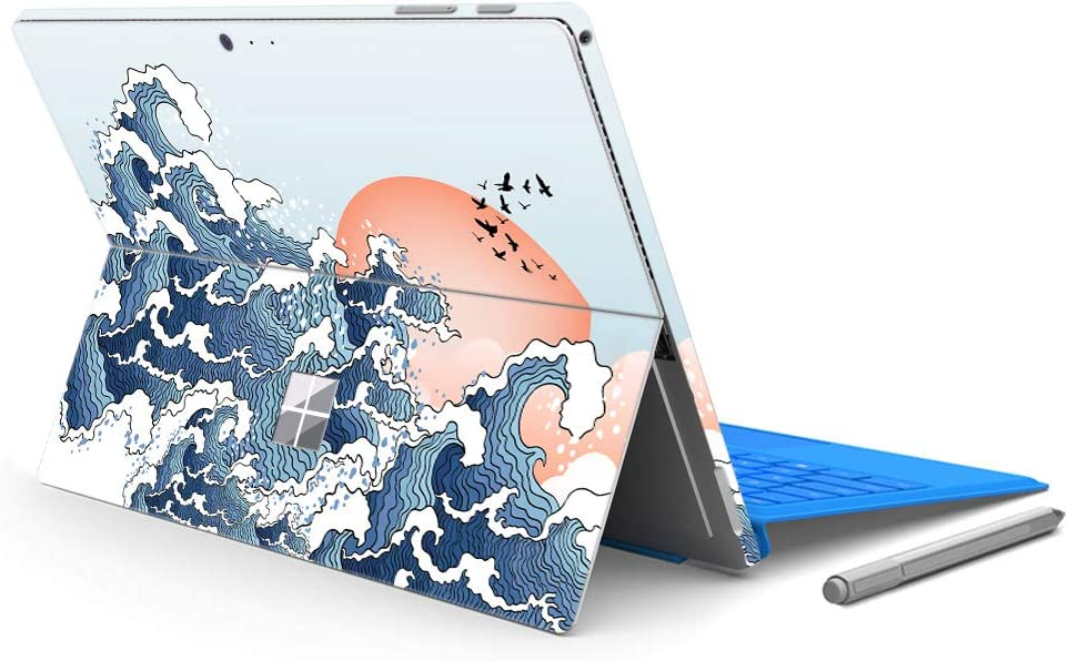 "MasiBloom Laptop Decal Sticker for 12.3"" Microsoft Surface Pro 6 2018 Released & New Surface Pro 2017 & Pro 4, Protective Skin (for Surface Pro 6/ Pro 5/ Pro 4, Wave)"