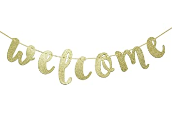 Image result for glittery welcome sign