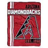 MLB Arizona Diamondbacks Micro Raschel Throw, One Size, Multicolor