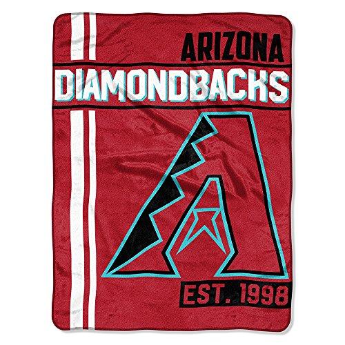 The Northwest Company MLB Arizona Diamondbacks Micro Raschel Throw, One Size, Multicolor