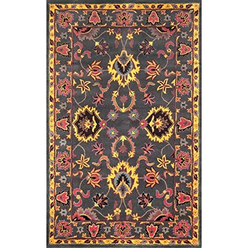 Hand Tufted Charcoal (nuLOOM Charcoal Hand Tufted Montesque Area Rug, 7' 6