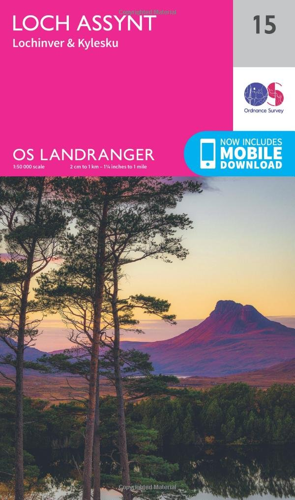 Loch Assynt Lochinver And Kylesku 1   50 000  OS Landranger Map Band 15