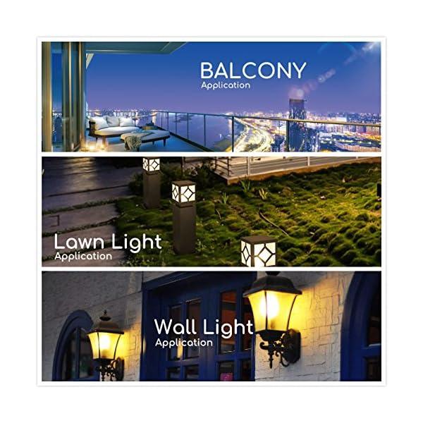 Lampadina a LED con doppio sensore di luce solare • 9 Watt • dal tramonto all'alba • ON/OFF automaticamente • 2 Pezzi… 6 spesavip