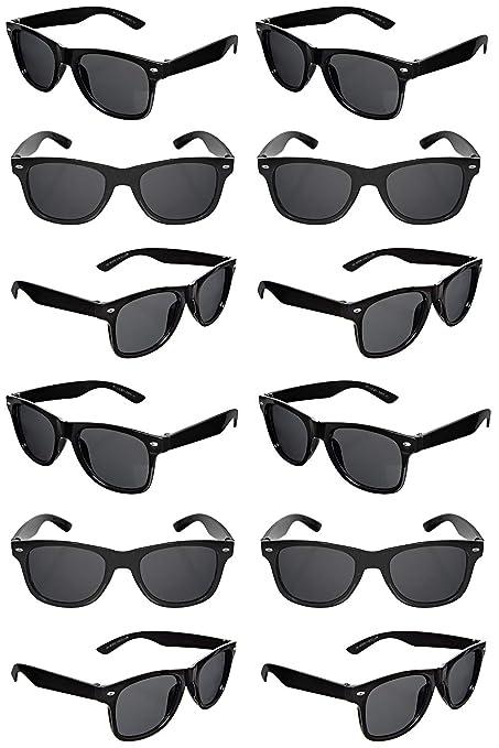 816d4d7646159 TheGag Black Sunglasses Wholesale Party Pack-12 Retro Wayfarer Risky  Business-Blues Brothers Black