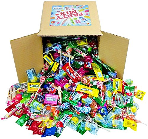 Assorted Candy Party Mix, 6x6x6 Bulk Box (Appx. 4 Lbs): Fire Balls, Airheads, Jawbusters, Laffy Taffys, Tootsie Rolls and Much More of Your Favorite - Kiddie Wings