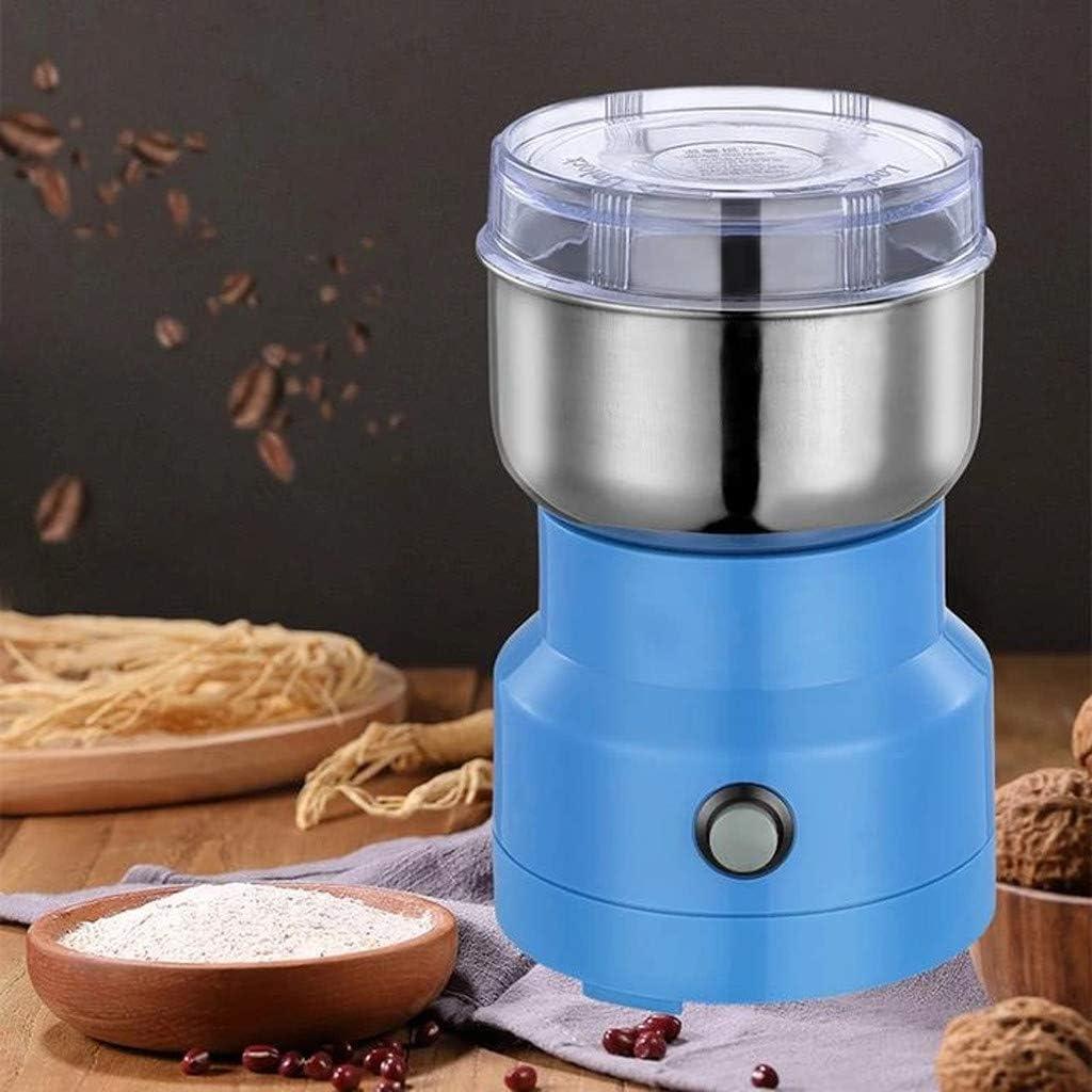 Portable Electric Cereal Grain Grinder for Spices Nuts Grains Herbs Spices Coffee Bean Pulverizer Machine YUtetolga Multifunction Smash Machine Grinder