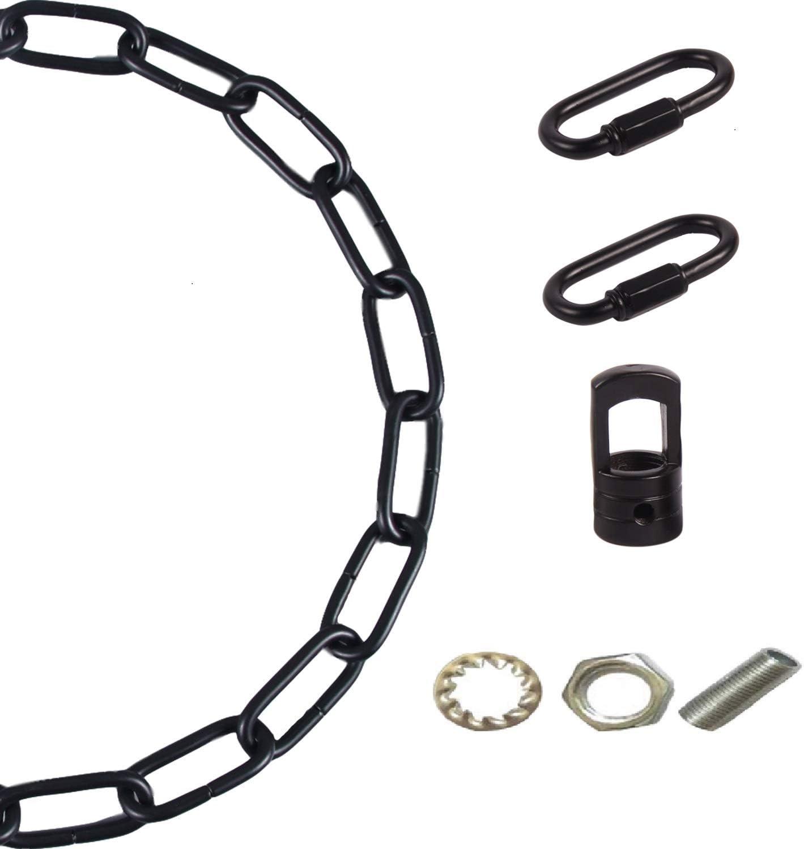 Arncmiv Pendant Light Fixture Chain,Heavy Duty Chain for Light Fixture,Black Ceiling Light Fixture Extra Lighting Chains Black,36 inch