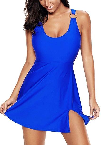 b9b5c5fb Leslady Bikini Tallas Grandes para Mujer Bañador con Falda Trajes de Una  Pieza: Amazon.es: Ropa y accesorios