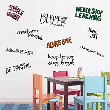 Amazon Assorted Inspirational Quotes Wall Decals For Kids Room