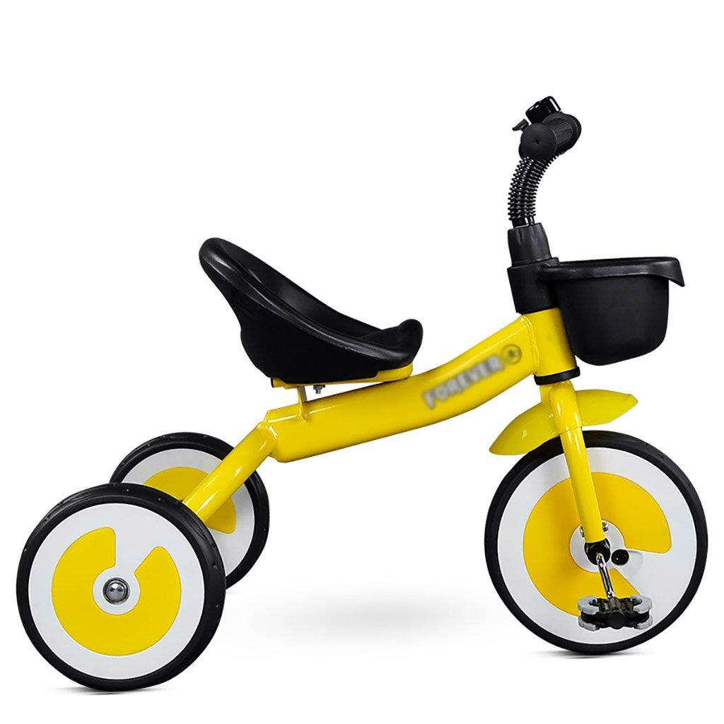 子供用トライク、三輪車の乗り物バイク、赤ちゃんの滑り自転車、おもちゃの自転車、自転車の子供、フットペダルの3つの車輪 (色 : B) B07DVN1CR1B