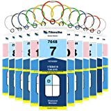 Cruise Luggage Tags, Cruise Essentials Holders for Norwegian Royal Caribbean, Thick PVC Zip Seal 12 Pack