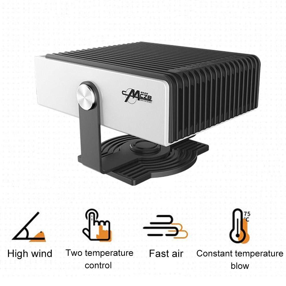 CXJC Auto Heater 200W 12V LKW Auto Ventilator Windschutzscheibe Fenster Demister Defroster Autozubeh/ör Winter-bewegliche Auto-Defroster