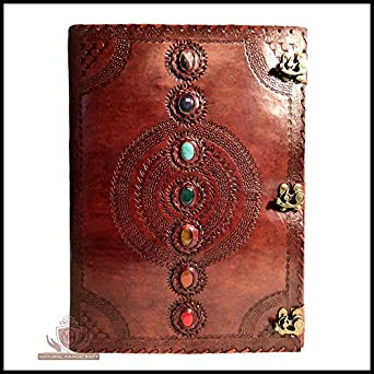amazon com seven chakra medieval stone embossed handmade leather