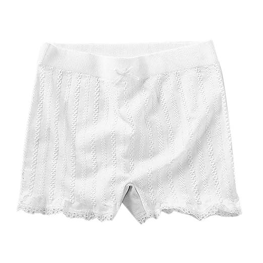 VIccoo Pantalones Cortos Ajustados elásticos de Las Mujeres Raya ...