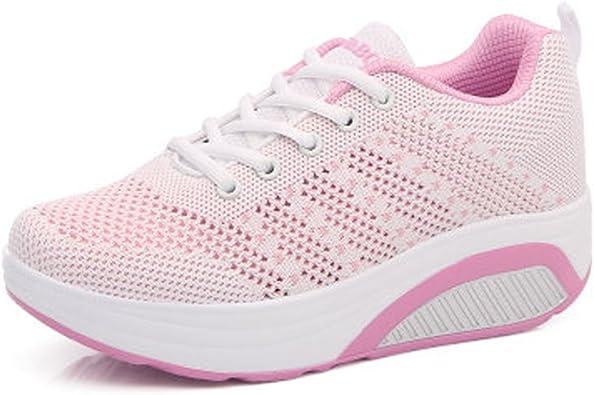 Femme Baskets Chaussures Semelle Compensée Mesh Chaussures