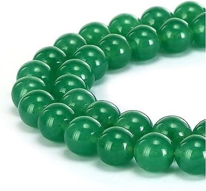 "8mm Natural Green Jade Round Gemstone Loose Beads 15/"" Strand AAA"