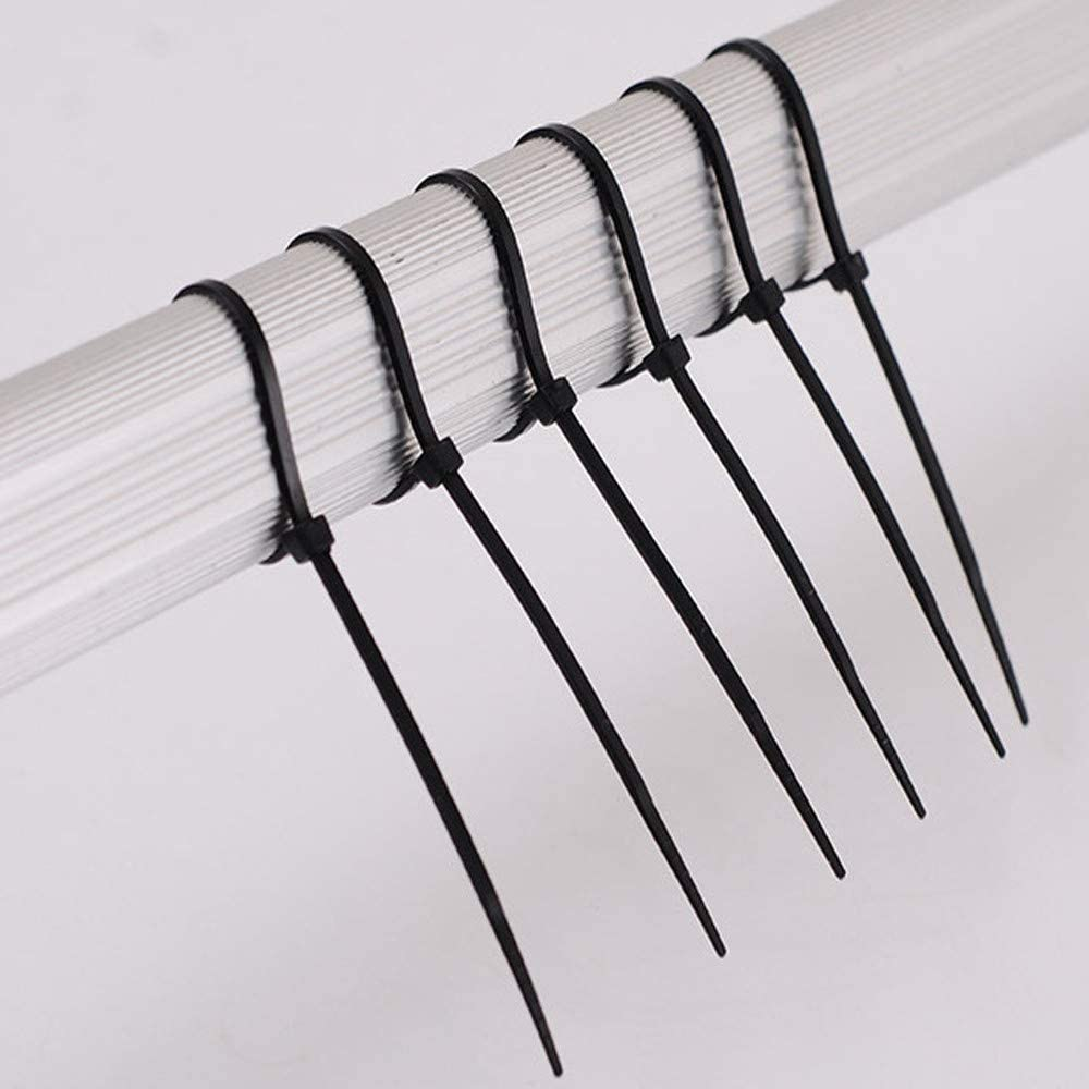 TADAMI 100pcs Zip Ties Self-Locking Black//White Zip Ties 10//15//20 cm Assorted Nylon Cable Ties Wire Ties