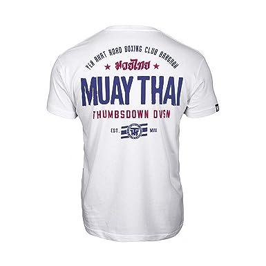 Muay Thai Thumbs Down Homme T-Shirt Casual Bangkok Martial Arts