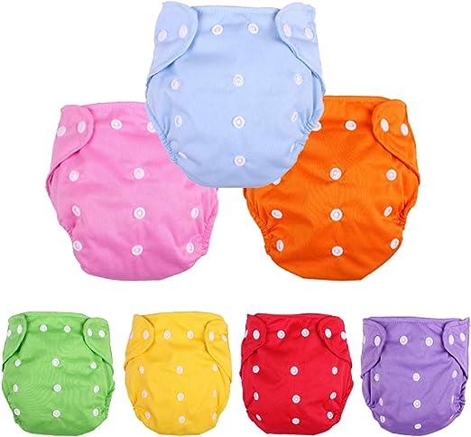 Amazon Com Pañales De Tela Reutilizables Lavables Para Bebés Talla única 7 Pañales Clothing