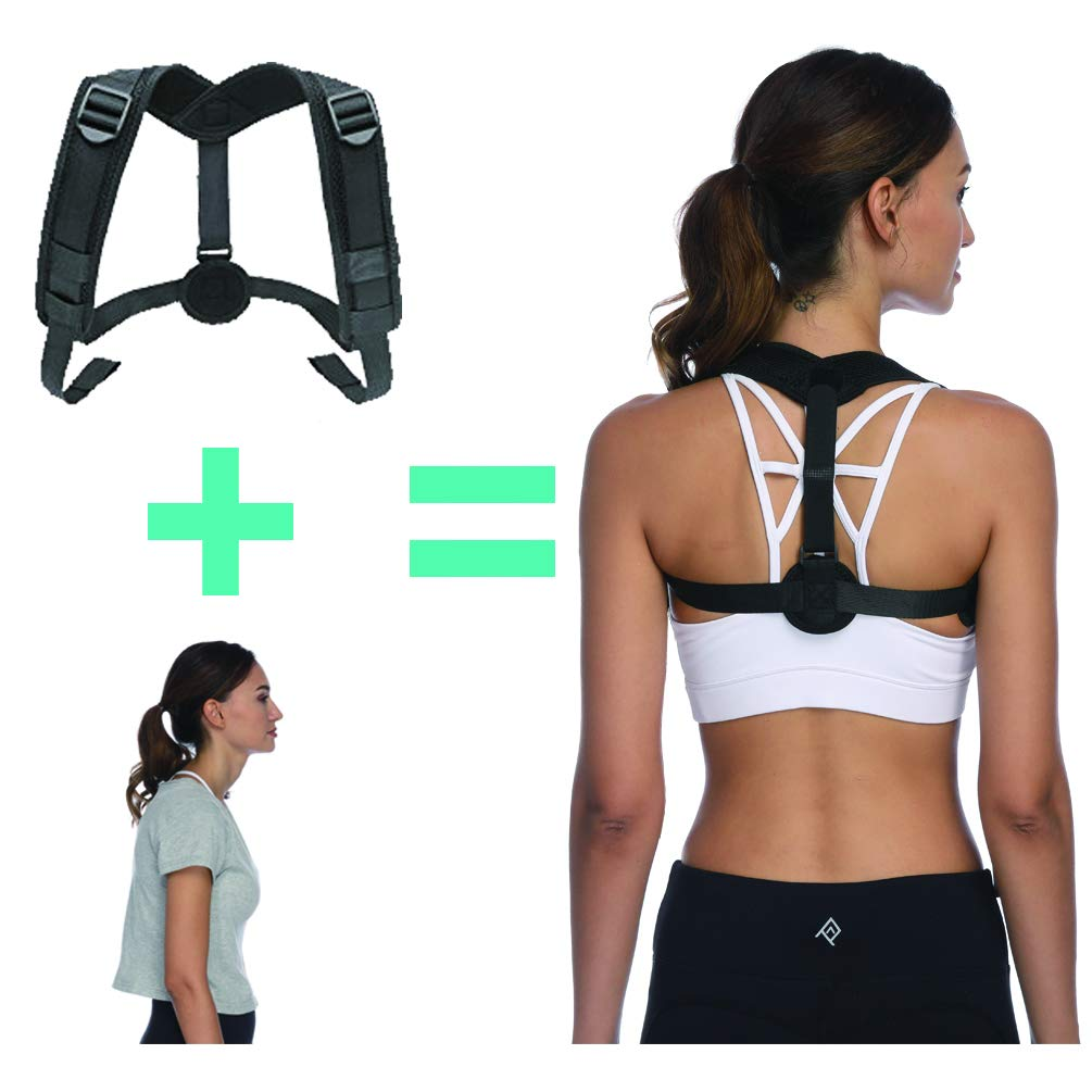 Posture Corrector for Women Under Clothes, Upper Back Brace,Shoulder Clavicle Support Against Slouching and Hunching, Neck Shoulder Pain Relief Back Straightener with Upgraded Front Adjustable Straps
