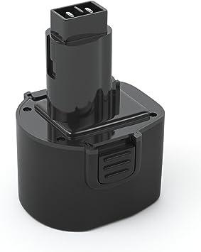 cargador para DeWalt Black /& Decker Bateria 9,6v 2000mah
