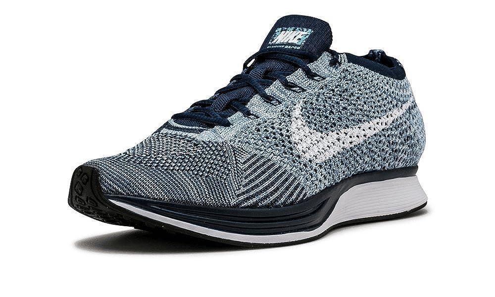 new arrival e4609 2ad43 Amazon.com  Nike Flyknit Racer Mens Running Shoe Blue Tint White Blue Cap  862713 401  Running