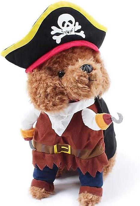 SIBOSUN - Disfraz de Perro con diseño de Pirata de Estilo caribeño ...