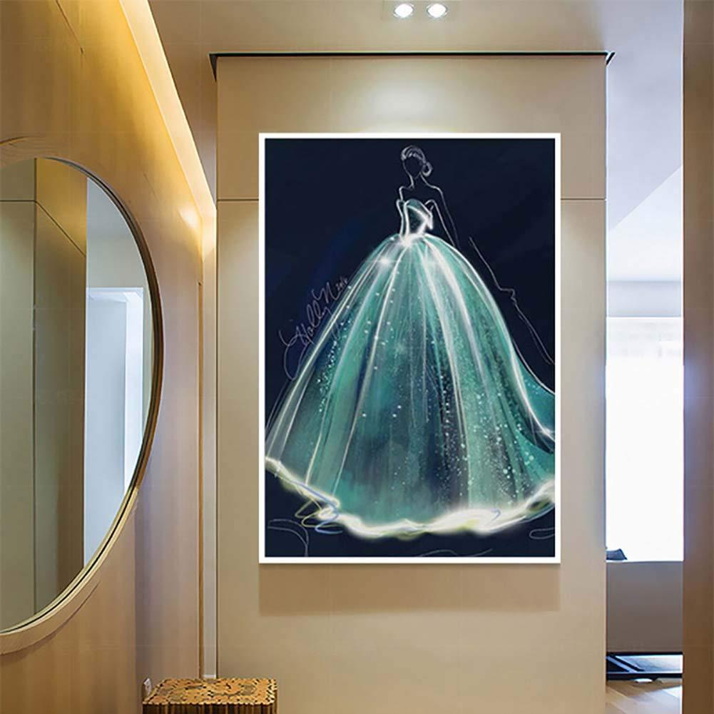 LINLIN Kunst DIY 5D Diamant Malerei Kit Voll Bohrer Kristall Stickerei Kreuzstich Craft Home Wand Mosaik Dekor (Werkzeug Enthalten/Rahmenlos),70 * 95CM