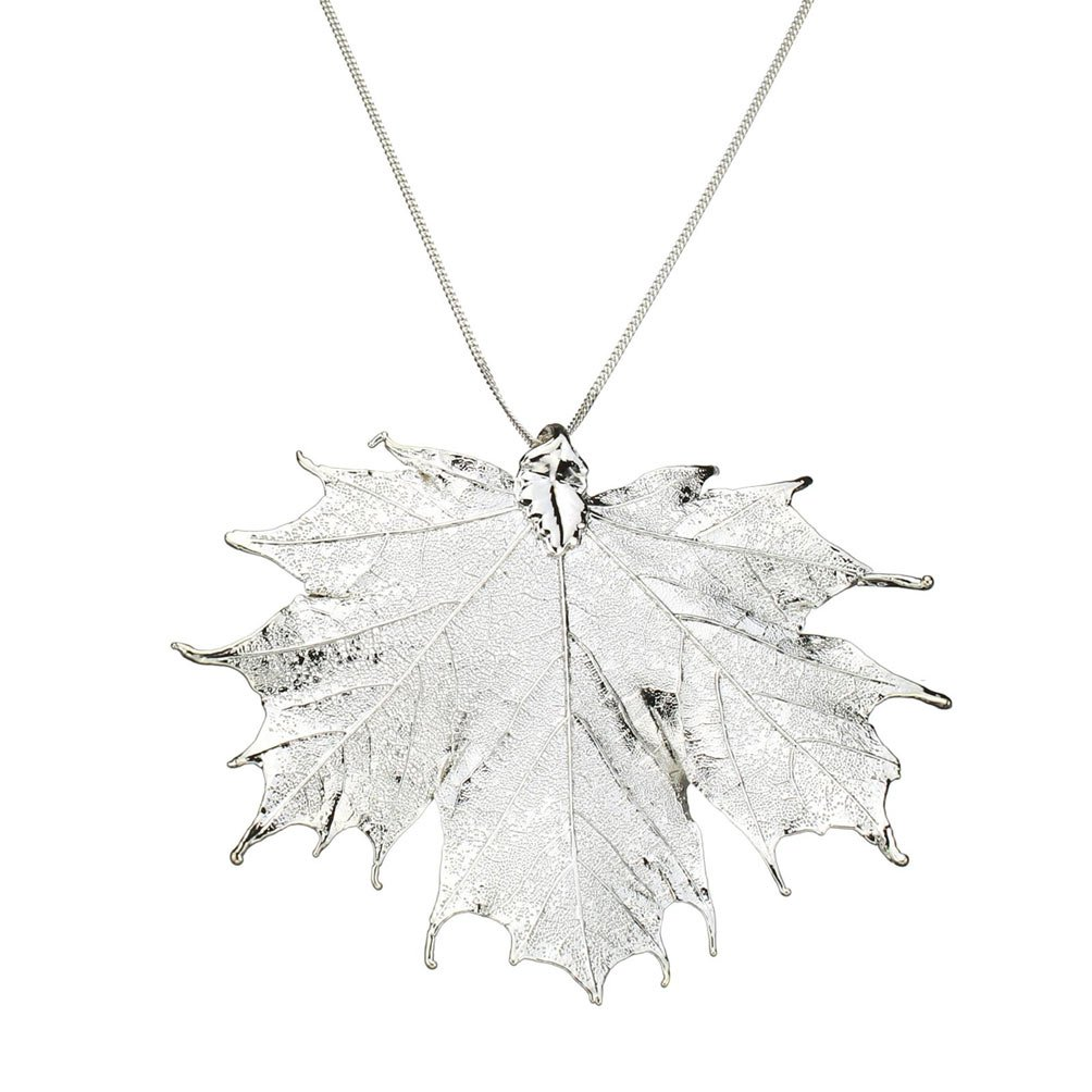 Amazon silver plated sugar maple leaf pendant sterling silver amazon silver plated sugar maple leaf pendant sterling silver curb chain necklace 20 jewelry aloadofball Gallery