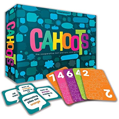 Gamewright Cahoots – The Cooperative Hint & Sync Card Game, Multi-Colored,: Toys & Games