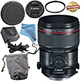 Canon TS-E 90mm f/2.8L Macro Tilt-Shift Lens 2274C002 + 77mm UV Filter + Fibercloth + Lens Capkeeper Bundle