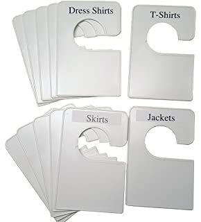 Marvelous 12 Blank White Clothing Dividers Plus 48 Labels 5.25x3.5 Inches