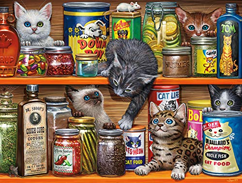 Buffalo Games - Cats Collection - Spice Rack Kittens - 750 Piece Jigsaw Puzzle