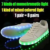7 Colors Led Luminous Shoes Unisex Sneakers Men & Women