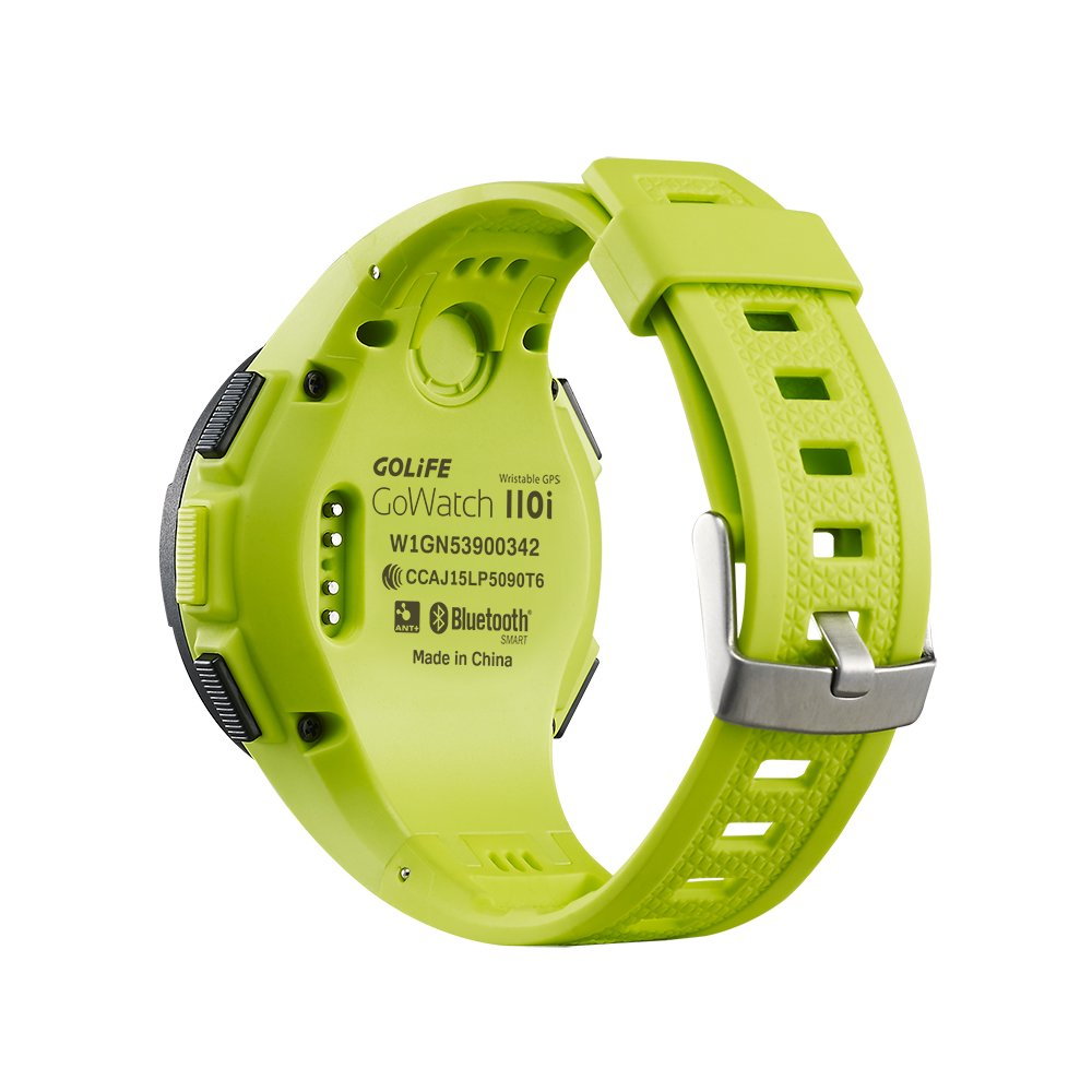 GOLiFE Fashion Thin GPS Smart sport Watch for Women and Men Runner with Heart Rate Motor Chronograph Stopwatch Alarm Clocks SMS App Notice (Green)