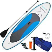 SereneLife Inflatable Stand Up Paddle Board (6 Inches Thick) Universal SUP  Wide Stance w 3f032179cbae