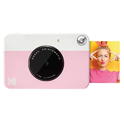022461e5851b5 Amazon.com : Kodak PRINTOMATIC Digital Instant Print Camera (Pink), Full  Color Prints On ZINK 2x3 Sticky-Backed Photo Paper - Print Memories  Instantly ...