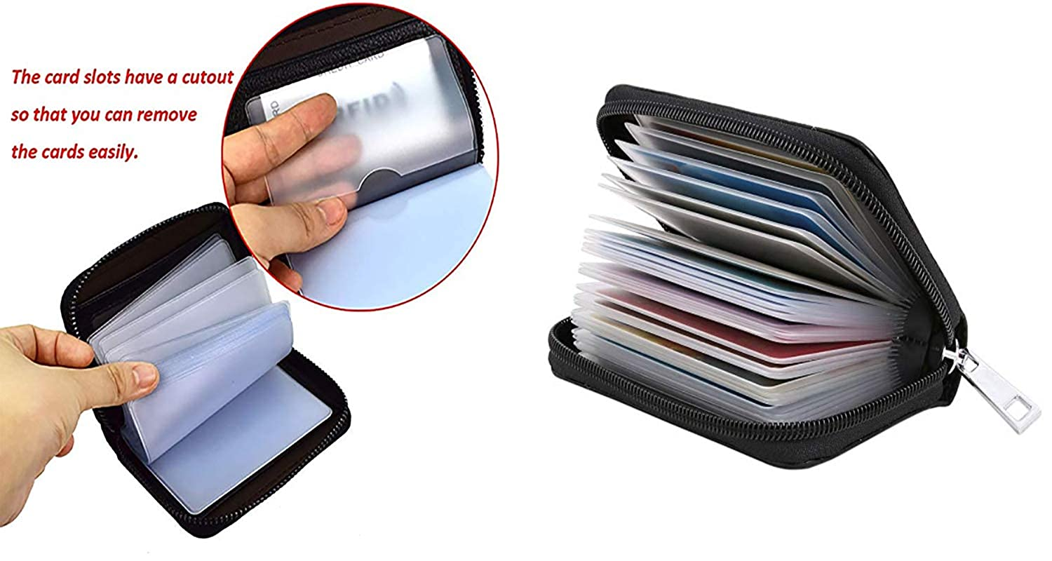 Credit Card Organizer Wallet Vector illustration Holder 18 Card Slots