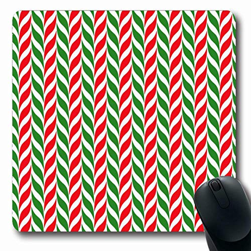 - Ahawoso Mousepad Oblong 7.9x9.8 Inches Green Pattern Candy Canes Xmas Christmas Holidays Modern Red Stripe Stick Simple Cute Design Optical Office Computer Laptop Notebook Mouse Pad,Non-Slip Rubber