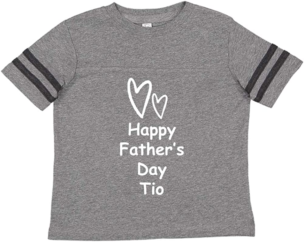 Mashed Clothing Happy Fathers Day TIO Toddler//Kids Sporty T-Shirt Two Hearts