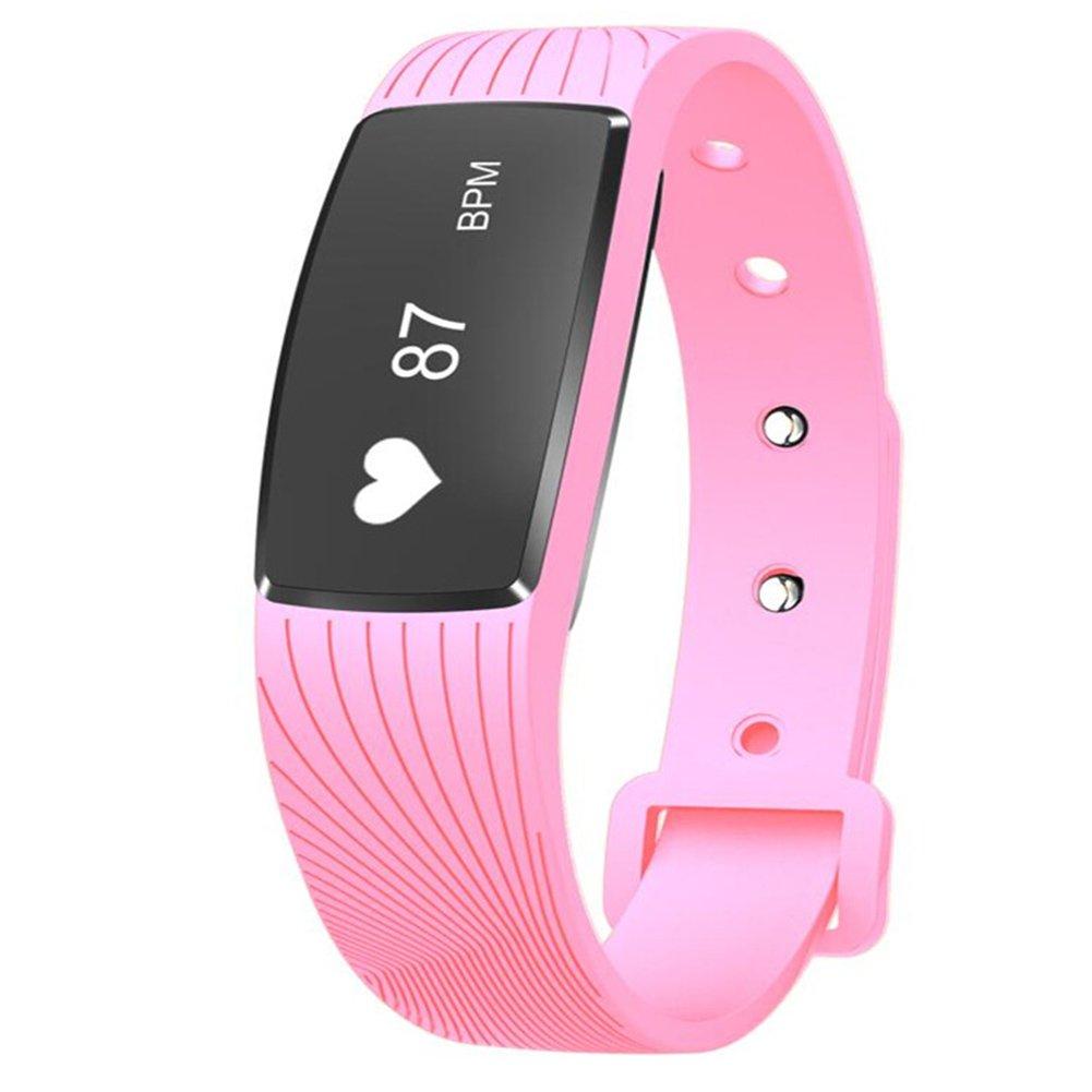 Gskj Rastreador De Fitness Bluetooth Deportes Pulsera Inteligente Toque Frecuencia Cardíaca Presión Arterial Detector Adecuado para Dormir Deportes Al Aire ...
