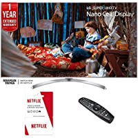 LG 55SJ8000 SUPER UHD 55 4K HDR Smart LED TV (2017 Model) with 6 Months of Netflix + 1 Year Extended Warranty