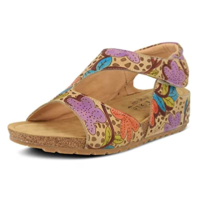 Spring Step Pomi Women's Sandal 40 M EU Grey-Multi
