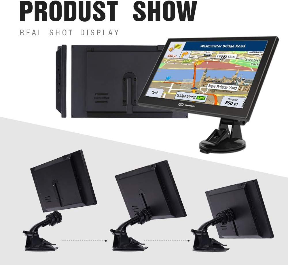 LKW Navigationsger/äte f/ür Auto Navi Navigation f/ür PKW SIXGO 9 Zoll HD Touchscreen Navigationssystem mit POI-Radarkamera Warnung Sprachf/ührung Spur und kostenlose lebenslange Kartenaktualisierungen